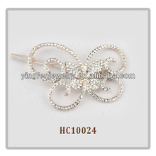 Fashion Rhinestone Butterfly Shaped Girls Hair Clips Crystal Butterfly Hair Clip
