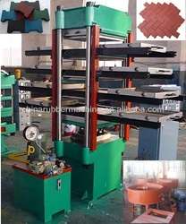 4 layers rubber tiles rulcanizing press/rubber sole making machine