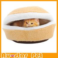 Wholesale S Super Soft Hamburger Cat Sleeping Bed