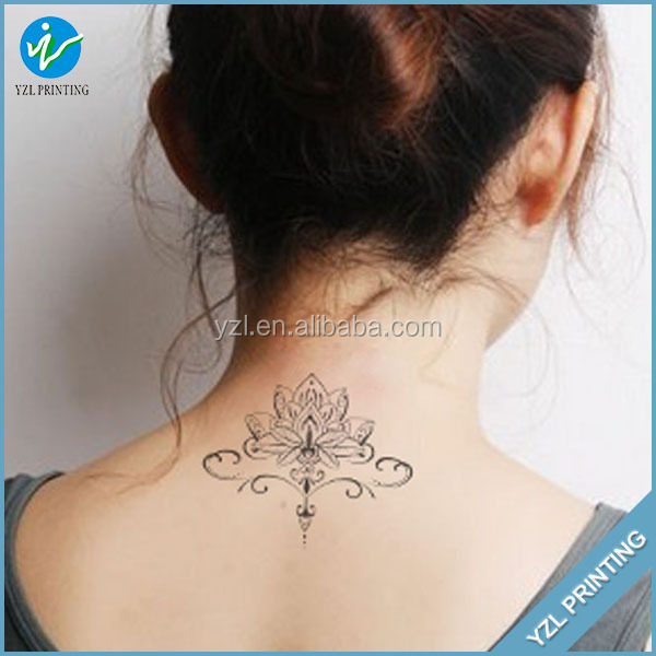 Waterproof printing custom design flower temporary tattoo for How to make temporary tattoos with printer