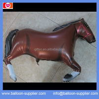 Helium shape balloons brown Horse shaped Custom foil balloons for party supplies