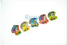 2015 Ricon Metal crafts cartoon metal card Resin Fridge Magnet for Home Decoration