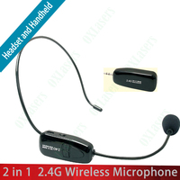 OXLasers OX-XXD18 2.4G wireless microphone headset with 3.5mm plug receiver for speaker system megaphone desktop free shipping