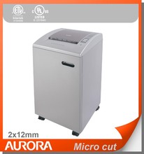Aurora AS1540CD Plastic Paper Shredder, 15 sheet (A4) Micro cut 2x12mm,Heavy Duty Shredding machine for Office & SOHO