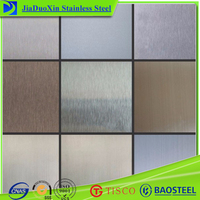Hairline brushed types of 316L stainless steel sheet