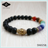 SN0258 Lucky Mala Buddha Bracelet 7 Chakra bead bracelet Amethyst jasper jade bead bracelet for women