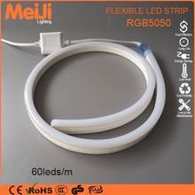 Online latest item high voltage 10mm width 5050 rgb led neon rope light