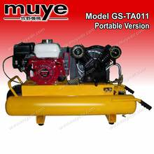 Electrical gasoline style air compressor/portable air piston compressor