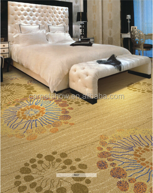 Stripe Pattern Axminster Carpet Wool Pattern Floral Carpet