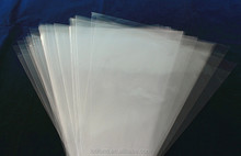 OPP transparent shaped triangle plastic heat sealable bag