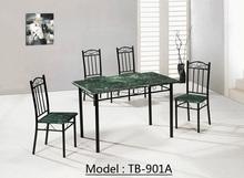Precio barato de madera mesa de comedor de mármol conjunto