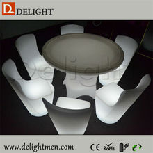 Best sale round illuminated party event color changing led architecture table