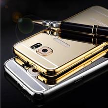 Luaxry Alumuium Bumper Case For Samsung Galaxy S6 Ultra Slim Mirror Mental Back Cover