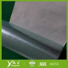 Fire-retardant aluminum foil coated with woven fabric for attic