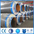 Fibre de verre de silicate de calcium laine de roche isolation des tuyaux de vapeur d'Aluminium Matériau