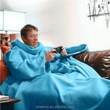 TV Blanket with Sleeves keep your hands free Polar Fleece Snuggie Blanket 100 Polyester TV Blanket