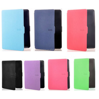 stock ultra slim kindle paperwhite smart case cover leather case for Amazon Kindle Paperwhite 7 colors with sleep function