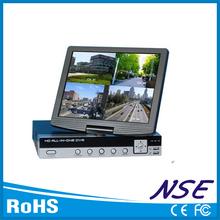 4ch h. 264 todo-en-un dvr con pantalla lcd de alta definición vga y salida hdmi