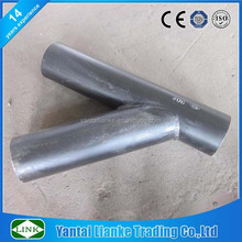 WPB sch40 45 degree lateral butt weld carbon steel pipe tee galvanized y pipe fitting