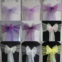 organza sash for chair decoration