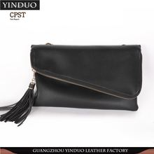 Unique Design Leather Book Clutch Bag With Print Logo