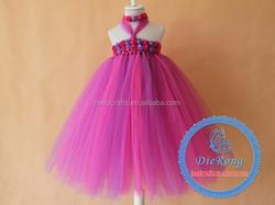 Hot sale sleeveless children wedding dress tutu lace dress flower girl dress patterns
