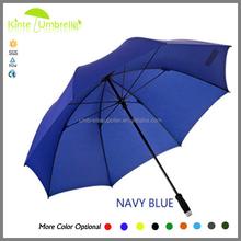 Blue Color 2015 Latest Golf Umbrella Single Canopy Promo No Rain Gear Personalized Design Golf Umbrella