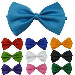 Adjustable Tuxedo Men Bow Tie Solid Color Butterfly Knot Men Formal Wear Wedding Dancing Party Red Black Blue Classic Bowtie 1PC