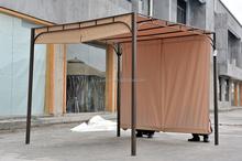 metal pergola with waterproof canopy