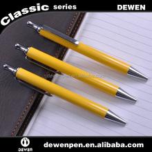 2015 Promotion yellow color ball pen,Customized logo click pen,metal pen