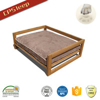 Durable Colorful Soft Classic Design Hot Selling wooden pet bed