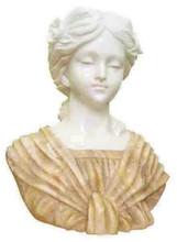 Beauty White & Yellow Marble Stone Head Sculptures, Stone Head Portrait