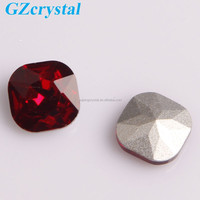 Round square shoe accessory crystal fancy stone
