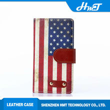 Wallet style PU leather mobile phone case with retro rivet element for Nokia Lumua 830