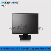 20.1 inch vehicle lcd advertising monitor With BNC interface