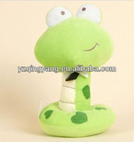 Standing stuffed plush snake toy with big eyes toy filling with pp cotton