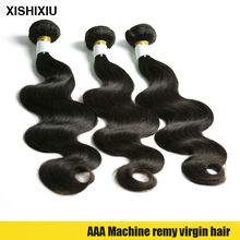 Hot selling 16 inch natural color 100% Unprocessed virgin brazilian human hair body wave