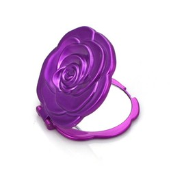 popular colour folwer shaped cheap plastic packet mirror