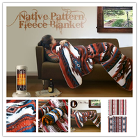 100% polyester native patten fleece blanket japan market