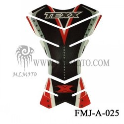 Brand New Motorcycle Fuel Gas Sport Tank Pad Protector Decal With Black TEXX Logo Hot in FMJMOTO