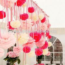 la princesa de hadas de papel de seda pom poms para la boda