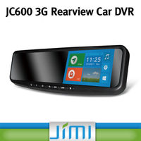 Newest 5.0 inch HD 1080p blue glass rearview mirror dual camera car black box,2 channel car black box dvr car camera JC600