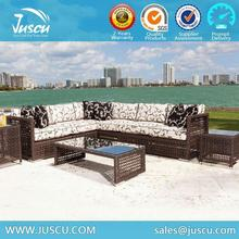 Juscu Rattan Indoor Sectional Sofa with Fashion Cushion With High Quality