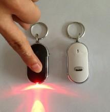China Wholesale Promotional Gifts LED Sound Control Whistle Keychain Alarm Key Finder