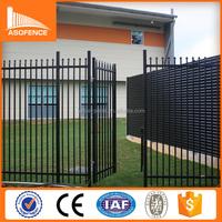 Security spear top wrought iron gates/ tubular tube used wrought iron door gates