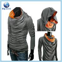 Fashion men's pullover sweatshirt long sleeve sweatshirt with hooded&custom hooded sweater
