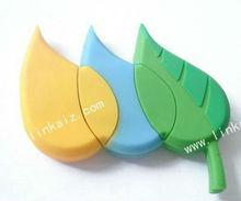 ecofriendly pvc custom promotional leaf shape usb flash drive 4GB 8GB 16GB