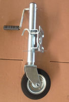 Side wind trailer jockey wheel