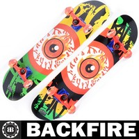 Backfire 2015 New Design 7 ply canadian maple skateboard complete Professional Leading Manufacturer