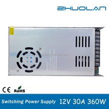 Power bank of switch 360w led transformer ac to dc 12v 30a power supply s-360-12